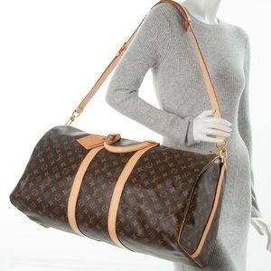 Authentic Keepall 55 Bandouliere Monogram